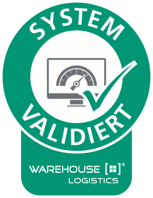 Validierungsstempel des Frauenhofer-Institut für unsere Lagerverwaltungssoftware